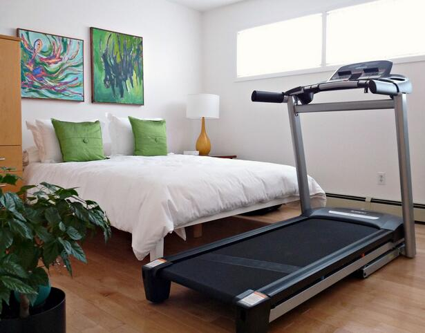 Compact treadmill for small rooms